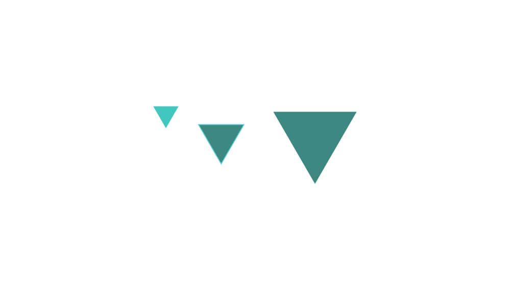 Graafisia elementtejä, kolme kolmiota.