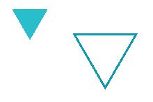 Graafisia elementtejä, kaksi kolmiota.